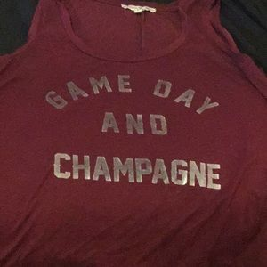 Game Day and Champagne XS Express tank top